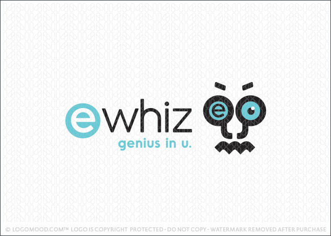 Character Nerd Genius Logo For Sale