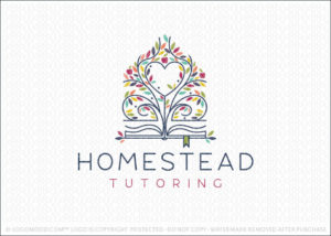 Homestead Tree Book Learning Logo For Sale