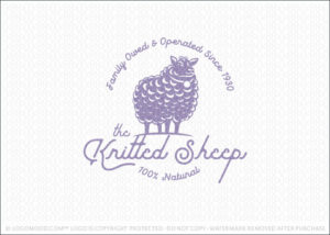 Natural Knitted Sheep Wool Logo For Sale