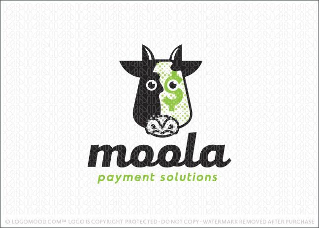 Money Moola Cow Logo For Sale
