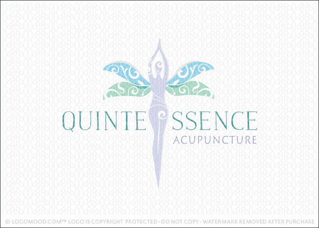 Woman Beauty Acupuncture Medical Holistic Logo For Sale