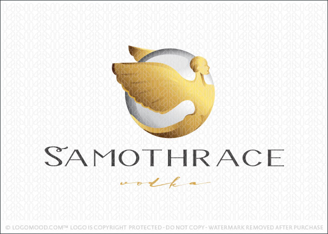 Beautiful 3D Styled Winged Goddess Logo For Sale