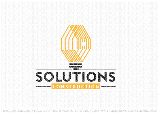 Building Construction Solutions Logo For Sale