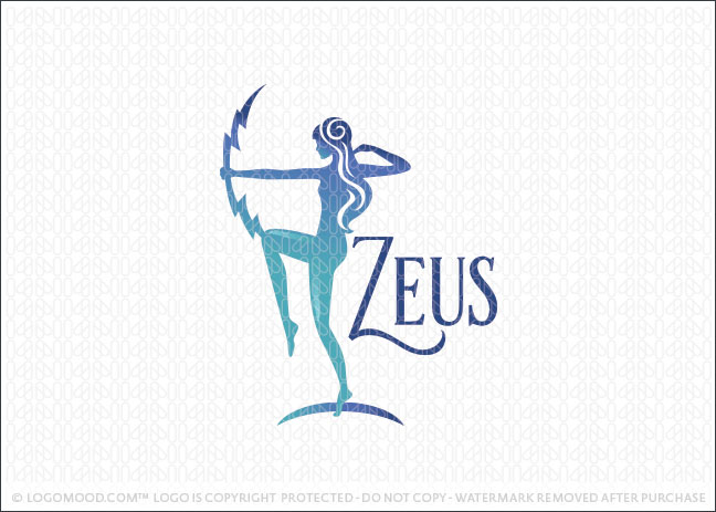 Zeus Beauty Goddess Logo For Sale