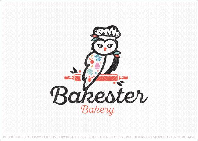 Sweet Baker Owl Bakery Logo For Sale