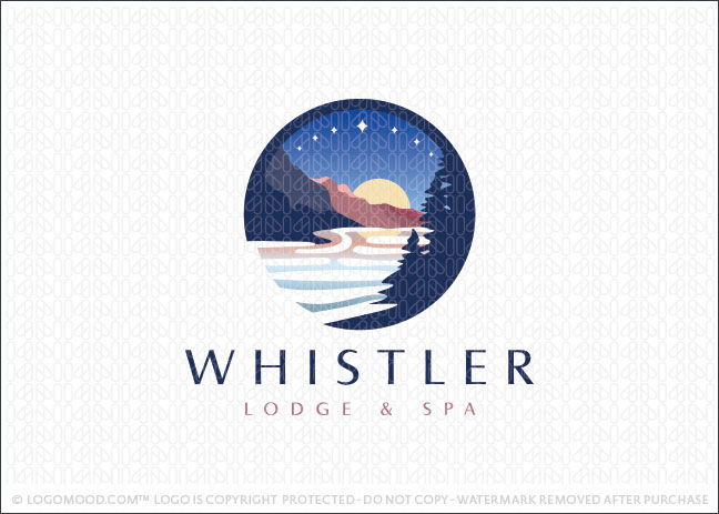 Mountain Scenery Whistler Logo For Sale