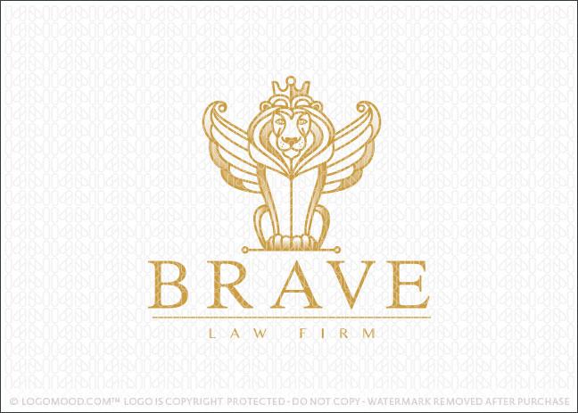 Royal golden winged royal lion Logo For Sale
