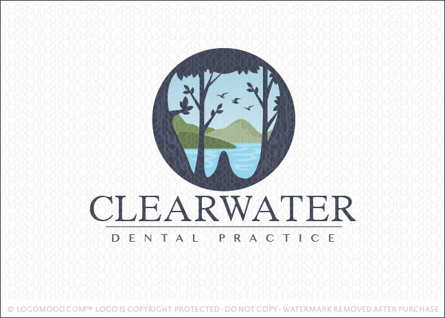 Clear Water Dental Logo For Sale
