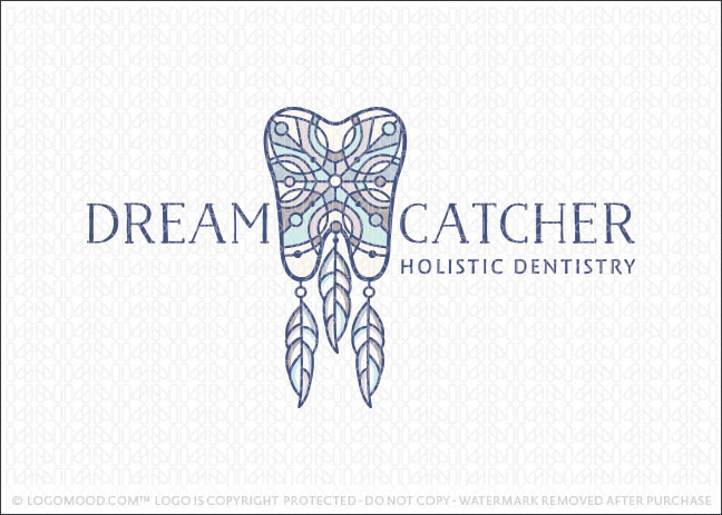 Dream Catcher Dental Tooth Logo For Sale