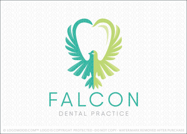Falcon Dental Logo For Sale