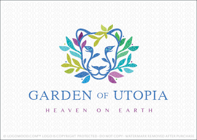 Garden of Utopia Lioness Logo For Sale