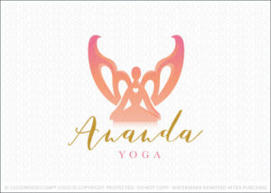 Angel Yoga Spiritual Healing Logo For Sale