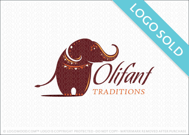 African Elephant Logo Sold