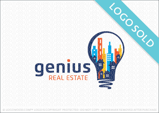 Genius Real Estate Logo Sold