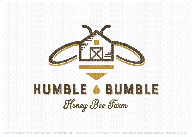 Bumble Bee Honey Farmhouse Logo For Sale