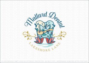 Mallard Bird Dental Logo For Sale