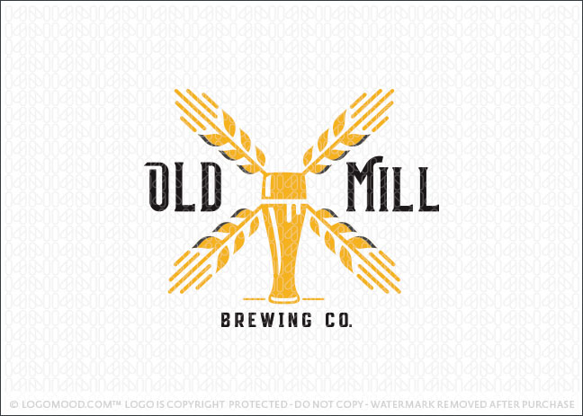 Beer Windmill Brewery Beer Company Logo