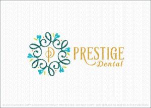Dental Tooth Decorative Frame Logo Design For Sale