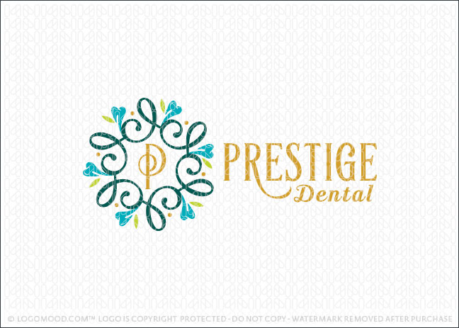 Dental Tooth Decorative Frame Logo Design For Sale