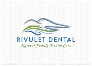 Mountain Hillside River Dental Logo For Sale