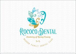 Dental Molar Tooth Logo For Sale