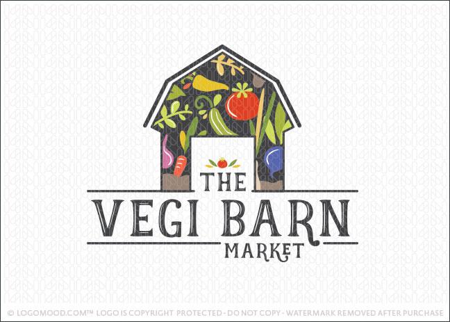 Veggie Farm Barn Natural Food Logo For Sale