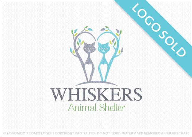 Whisker Animal Shelter Logo Sold
