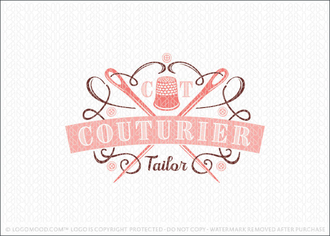 Custom Tailoring Vintage Crest Logo For Sale