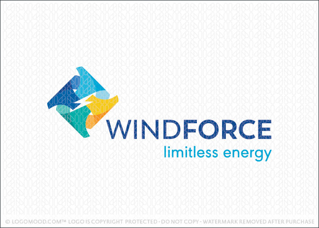 Wind Power Renewable Energy Logo For Sale