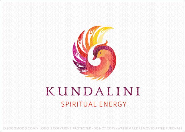 Kundalini Bird Spiritual Energy Holistic Logo For Sale