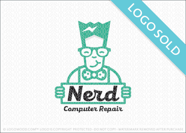 Nerd Computer Repair Logo Sold
