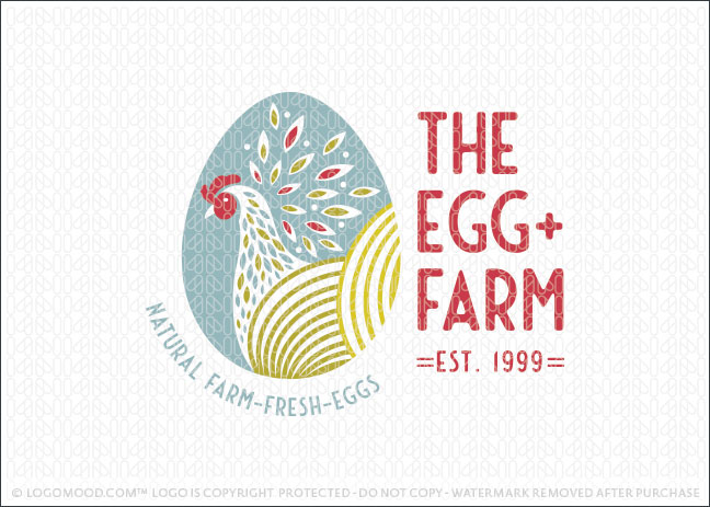 Chicken Egg Farmers Logo Design For Sale