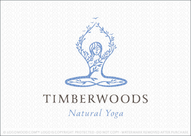 Natural Yoga Woman Logo For Sale