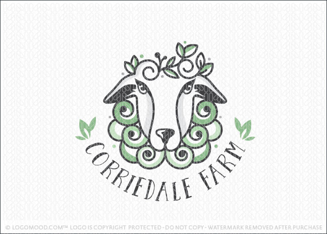 Corriedale Sheep Farm Animal Logo For Sale