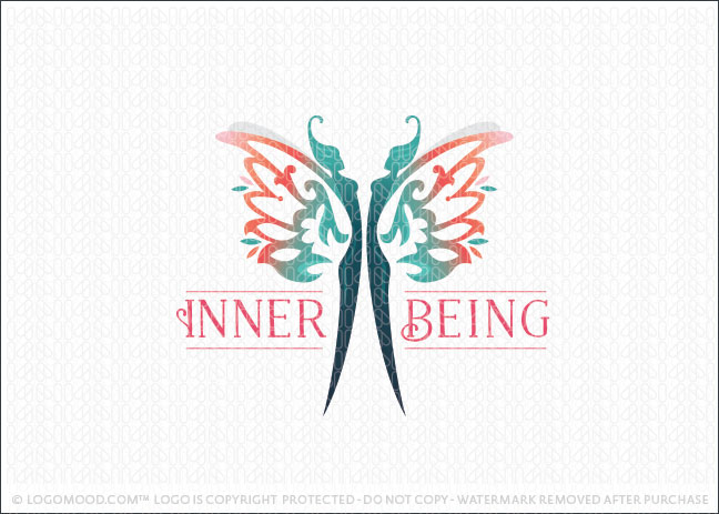 Inner Being Butterfly Woman Beauty Logo For Sale