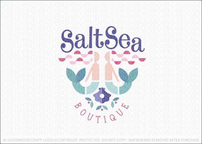 Salt Water Sea Mermaid Logo For Sale