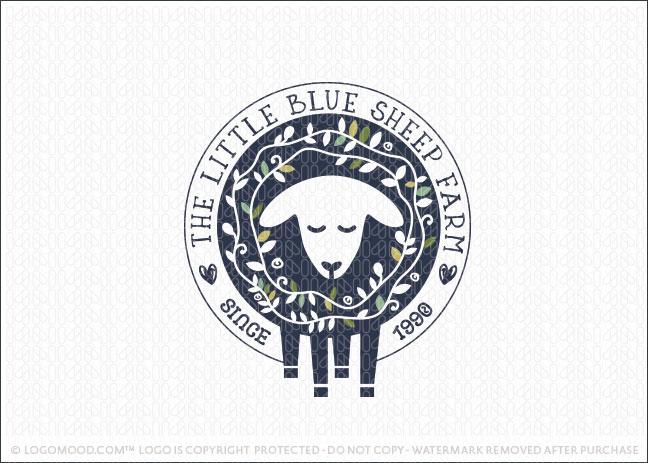 Sheep Animal Wreath Crest Logo For Sale