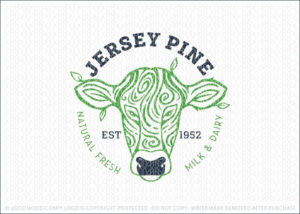Jersey Pine Dairy Cow