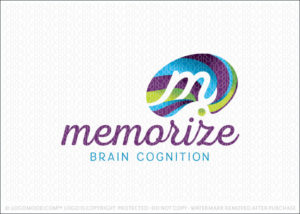 Abstract Memorize Brain Logo For Sale