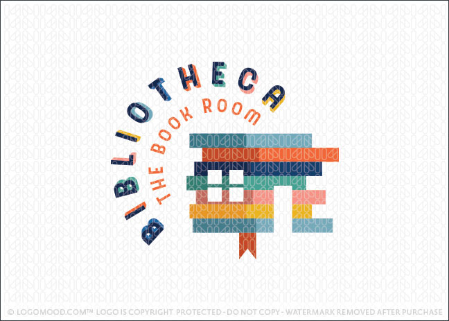 The Library Book Room Logo For Sale