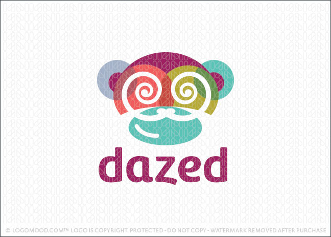 Dazed Modern Monkey Logo For Sale