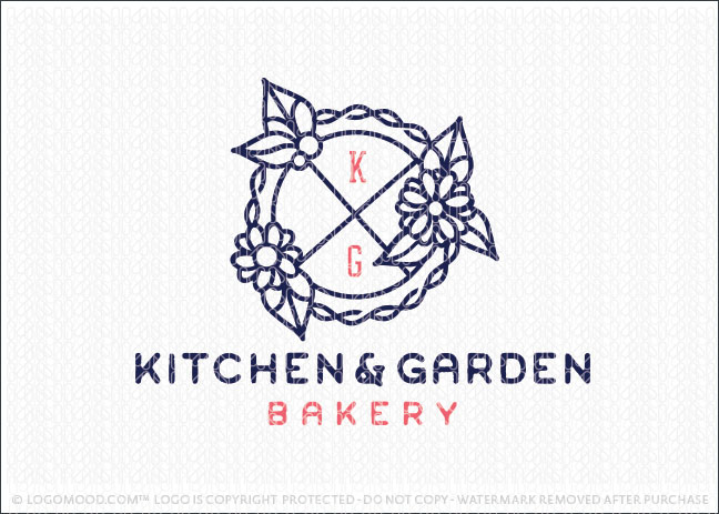 Kitchen Pie Bakery Shop Logo For Sale