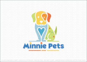 Puppy Love Animal Pet Care Logo For Sale