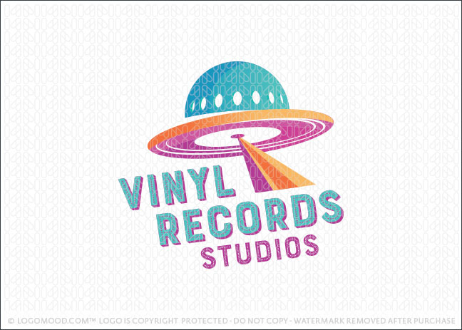 UFO Vinyl Records Logo For Sale