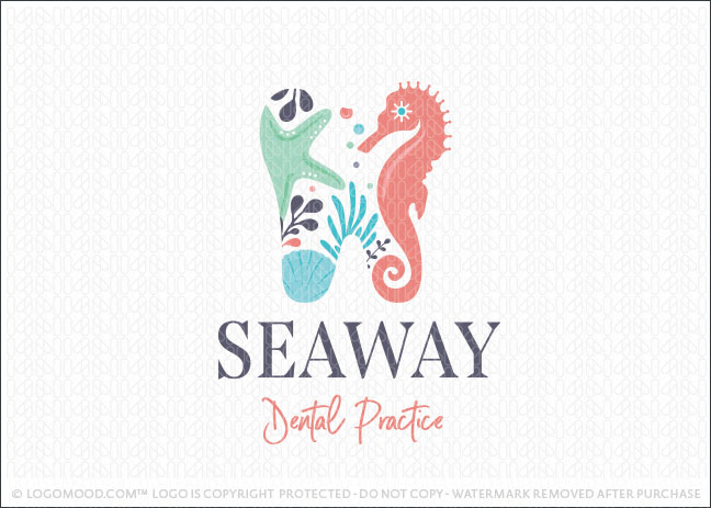 Ocean Tooth Dental Practice Logo For Sale