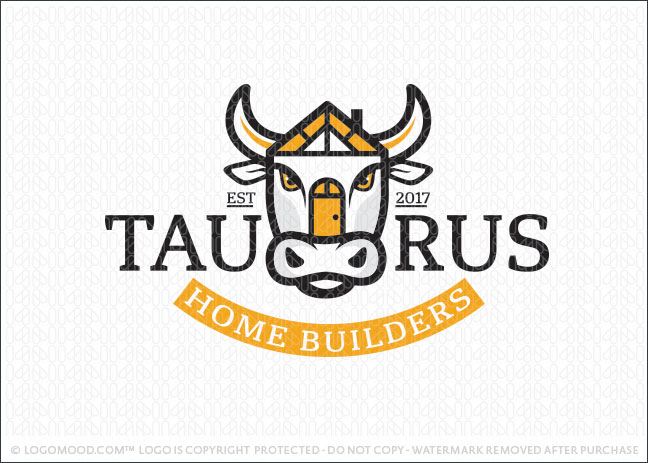 Taurus Bull Home Renovation Construction Logo For Sale