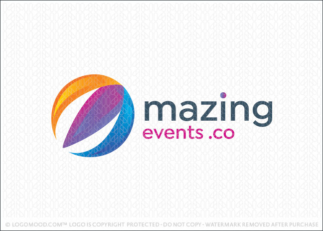 Amazing Air Balloon Events Logo For Sale