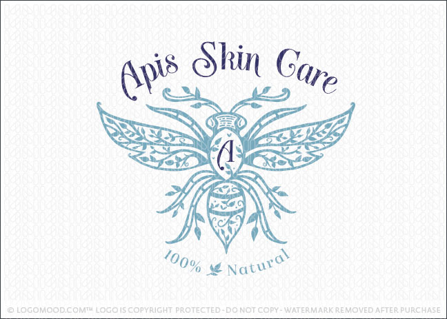 Natural Organic Bee Skin Care Logo For Sale