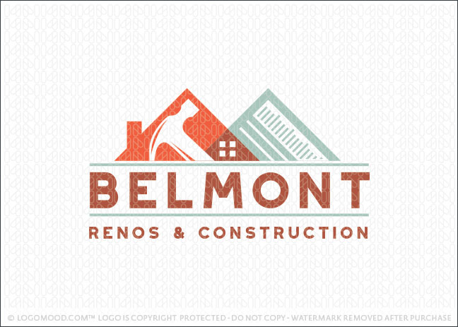 Belmont Handyman Renovations and Construction Logo For Sale