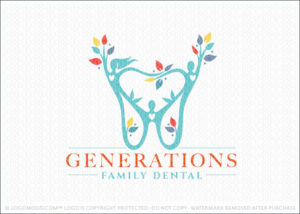 Generations Family Dental Practice Logo For Sale